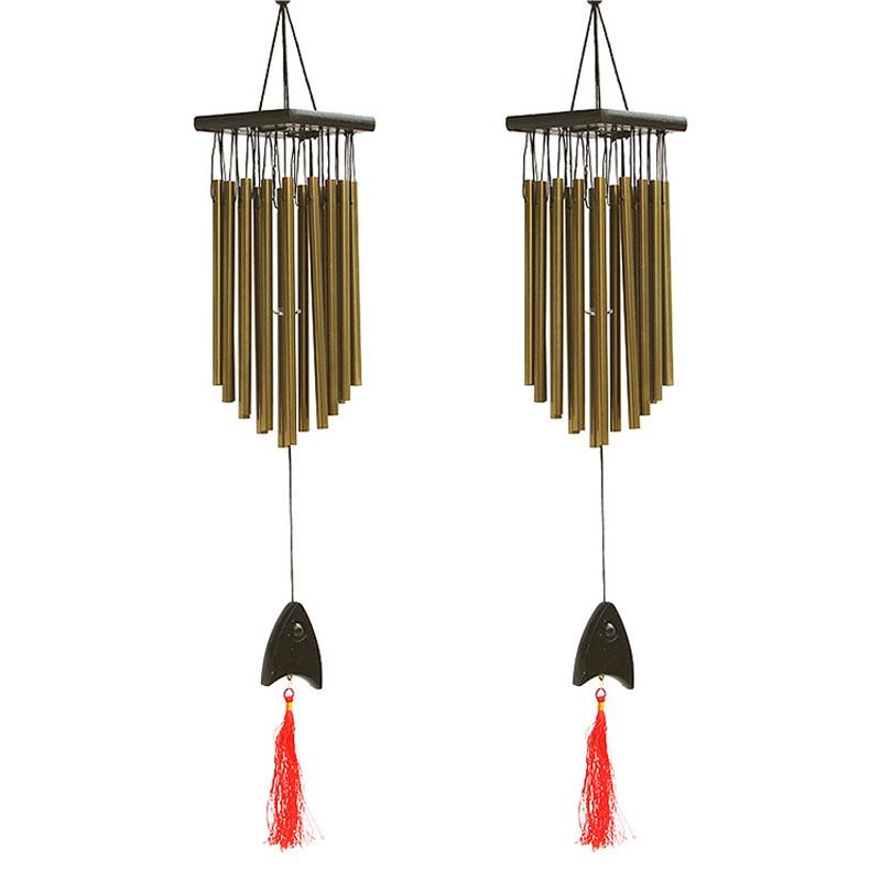 UK 23cm Wind Chimes Bells Alloy Hanging Yard Garden Outdoor Decor Kids Gift SALE