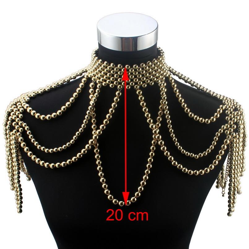 도매 긴 비드 체인 Chunky 시뮬레이션 진주 목걸이 바디 쥬얼리 여성 의상 초커 펜던트 문 목걸이에 대한 새로운