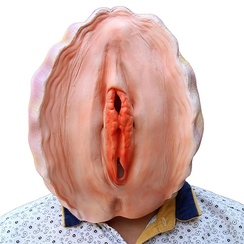Creepy Latex Mask Shell Hedging Theater Prank Prop Crazy Masks Halloween Party Costume