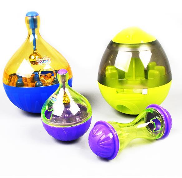 1pc Cat Feeders Alimentaire Balle Interactive Pet Toy Tumbler Egg Smarter Chat Jouer Jouets Traiter Balle Secouer pour Chiens