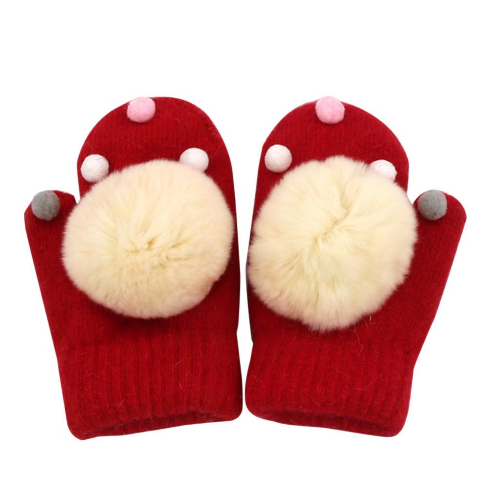 Baby Boy Leaf Girl Keep Warm Glove baby winter gloves infant-winter-mittens Enfant Mitaine #c