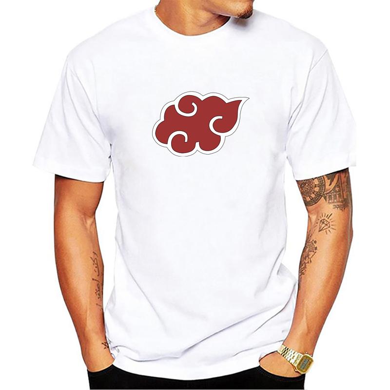 Anime Naruto Akatsuki Logo Pattern T Shirt Itachi Uchiha Anime T-shirts Tshirt Cotton Cosplay Costume Top Tees