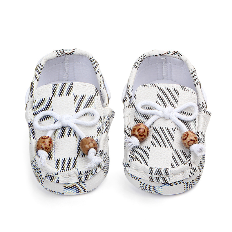 Newborn Baby Shoes Girls Boys PU Leather Crib Shoes Peas Shoes Soft Sole Infant First Walkers