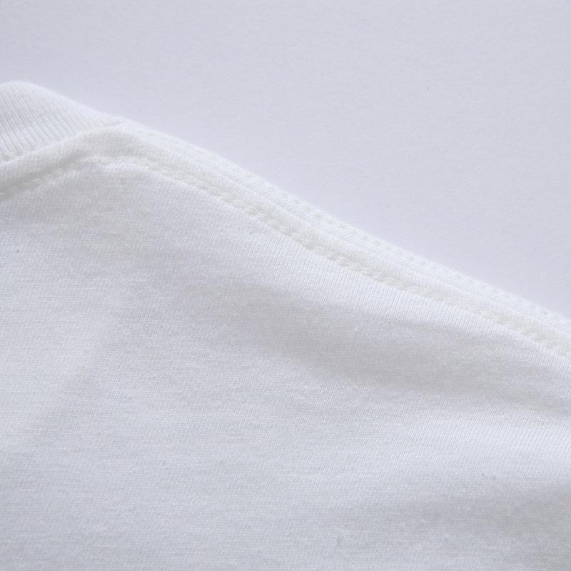 Verano nueva moda de alta calidad de dibujos animados lindo búho patrón camiseta casual manga corta cuello redondo blanco parejas impresión camiseta