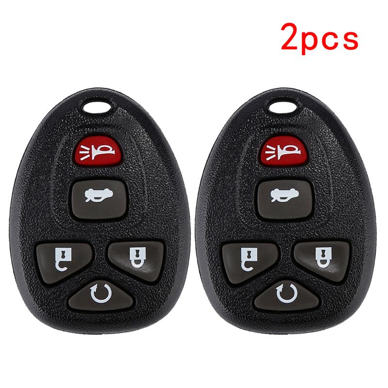 For Pontiac Buick Chevrolet 4 BTNS Remote Key Keyless Entry Fob Case Shell Pad