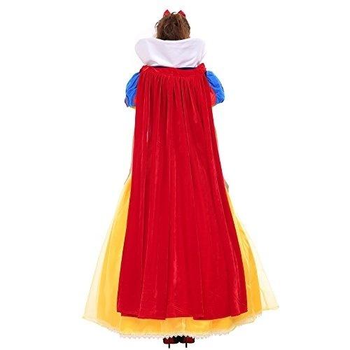 Princesa Das Mulheres Branca De Neve Traje Vestido Manto Petticoat Adultos Crianças