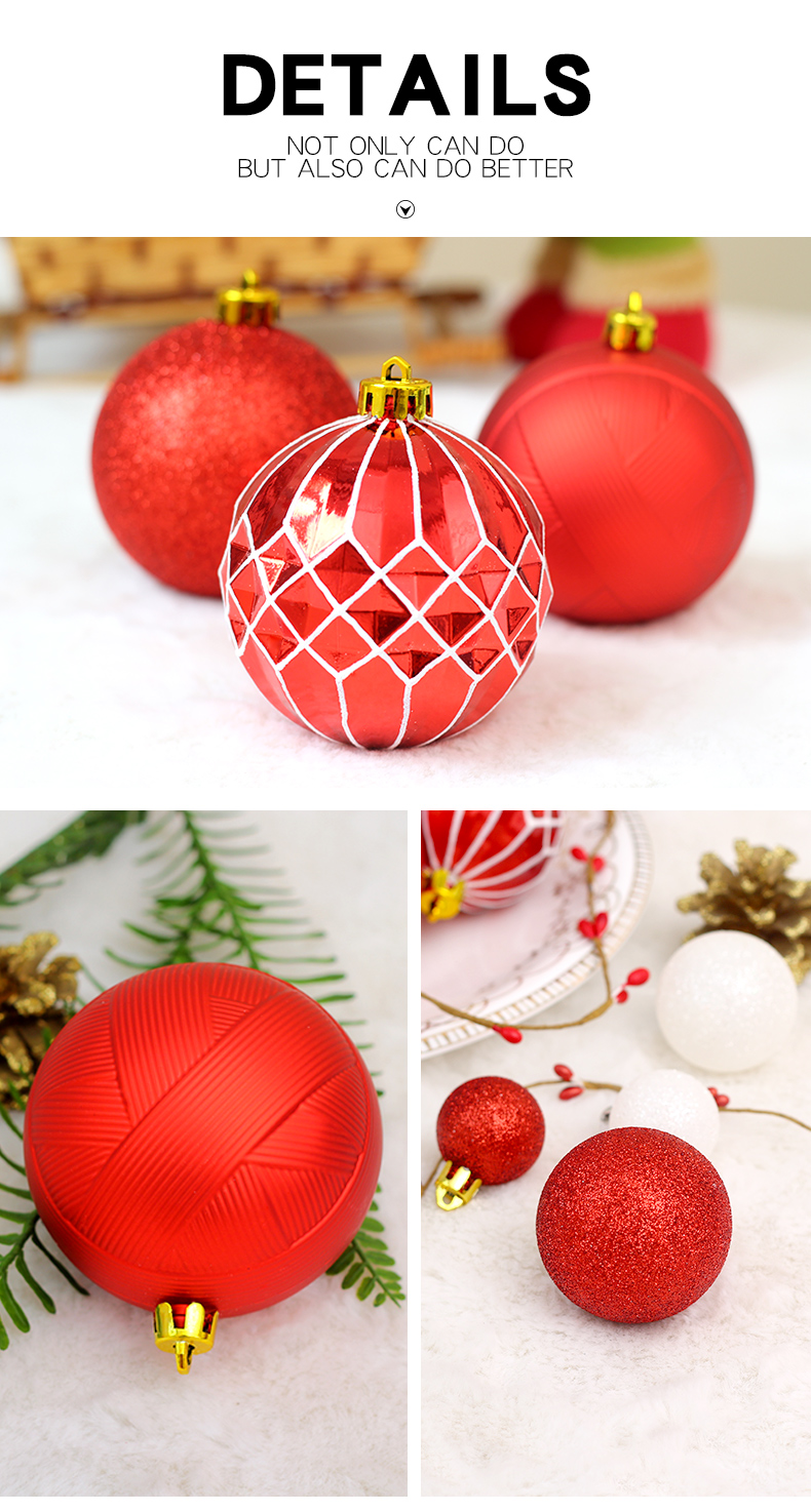 04 inhoo Christmas Tree Decoration Balls Ornaments Pendant Accessories 50pcs Red and white ball Decor For Christmas Home Party 2019