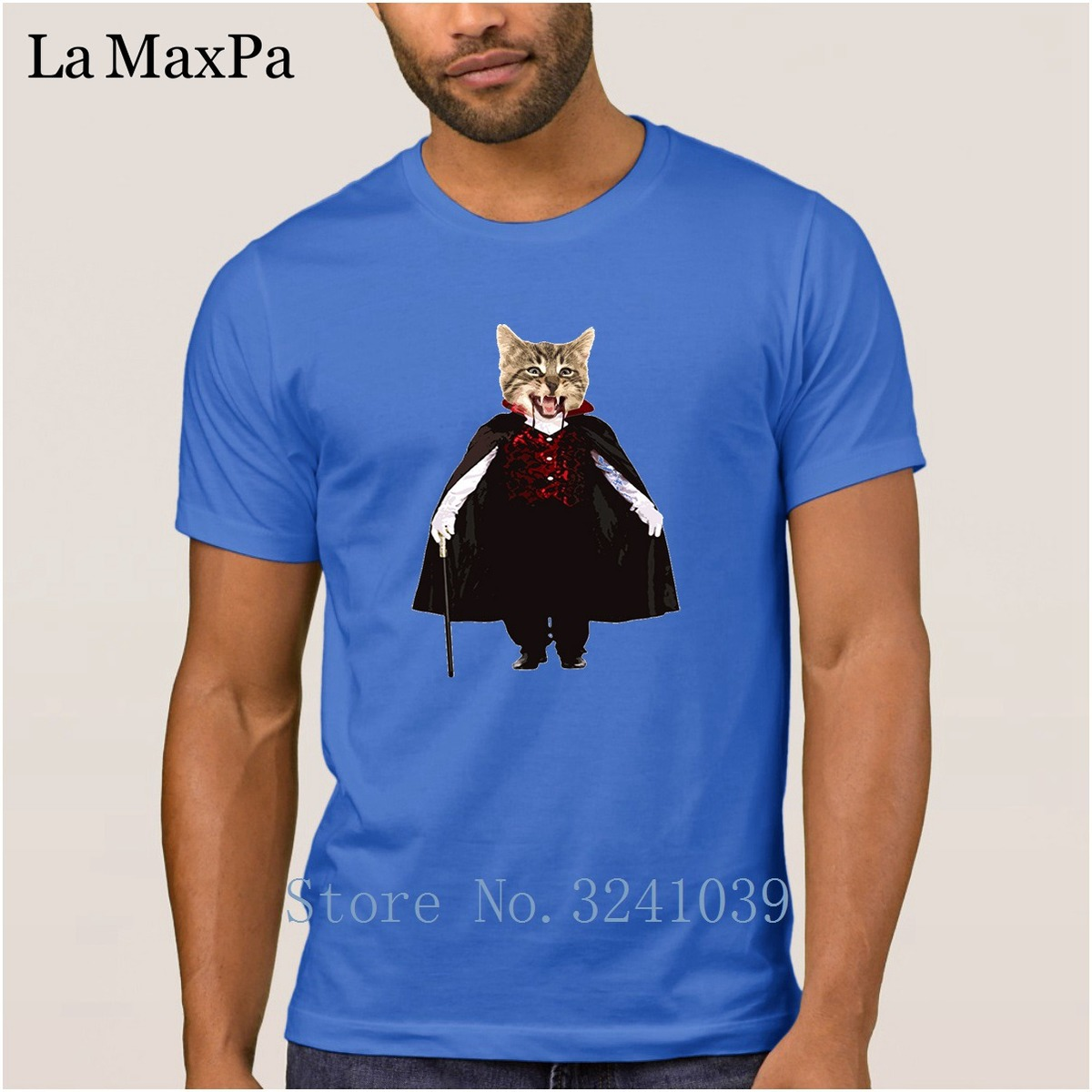 Breathable T-Shirt For Men Short Sleeve 2018 Men T Shirt Catcula Cat Kitten Halloween Tshirt Man Male Big Sizes Top Quality