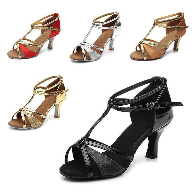 Les Femmes Danse Latine Chaussures Salle De Bal Chaussures De Danse Talons Hauts Soft Danse Chaussures 5//7CM