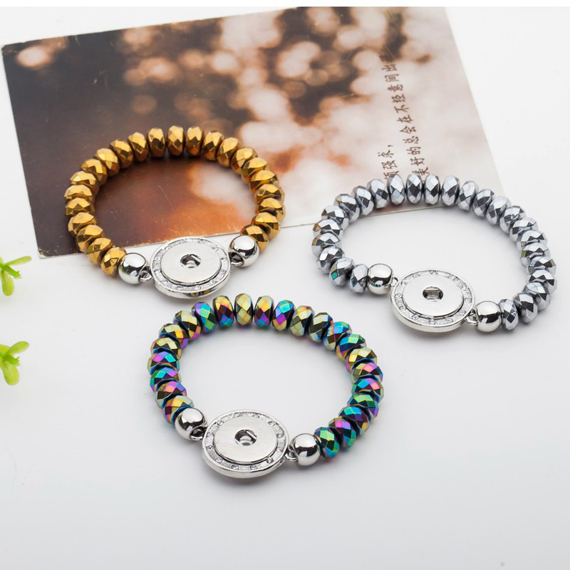 Lacet Rond Cristal Strass Anneau Snap Bouton fit 18 mm Noosa Charme Bijoux