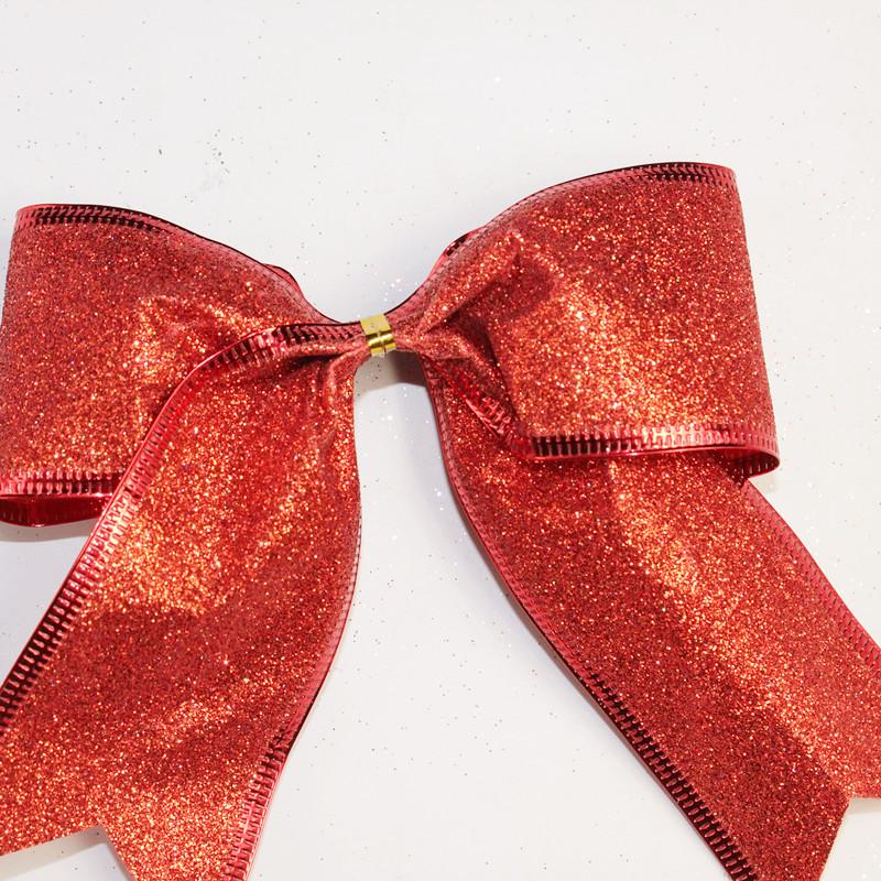 Christmas Tree Pendant Decoration 13cm Sparkling Glitter Shimmer Bow Wedding Party Festive Decor Christmas Bows