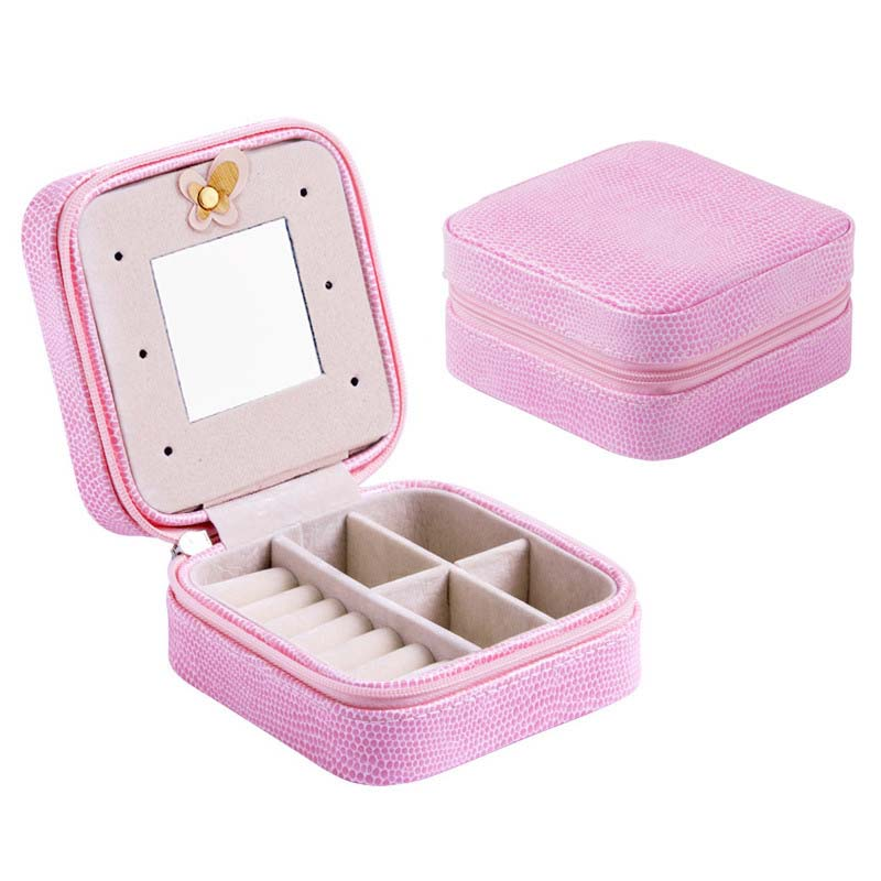 wholesale Jewelry Box For Exquisite Packaging Casket Makeup Organizer Case Cosmetics Beauty Container Boxes Girls Birthday Gift