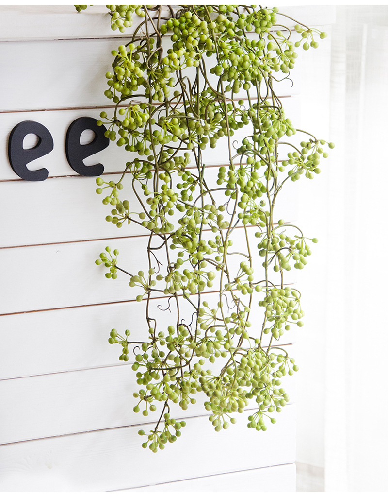 Flone Artificial Flower Branch Fake Red Bean Fruit Vine Simulation Plant Flowers Rattan Wedding Home Party Decoration Floral (11)