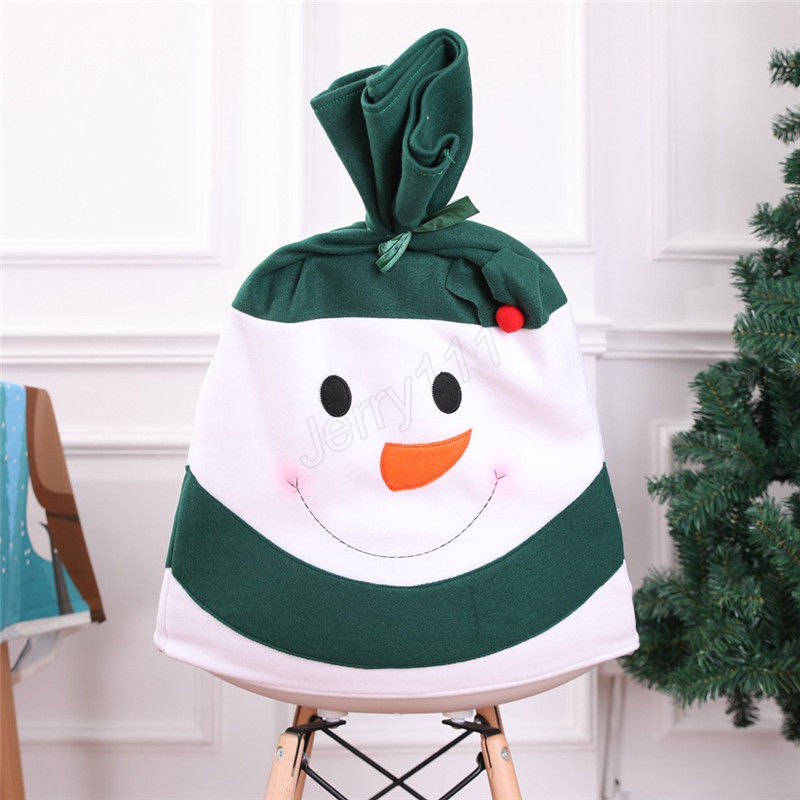 Santa Claus Cap Chair Cover Christmas Dinner Table Party Red Hat Chair Back Covers Xmas Christmas Decorations LE115