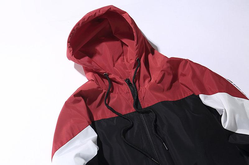 Color Block Patchwork Windbreaker Hooded Jackets 6