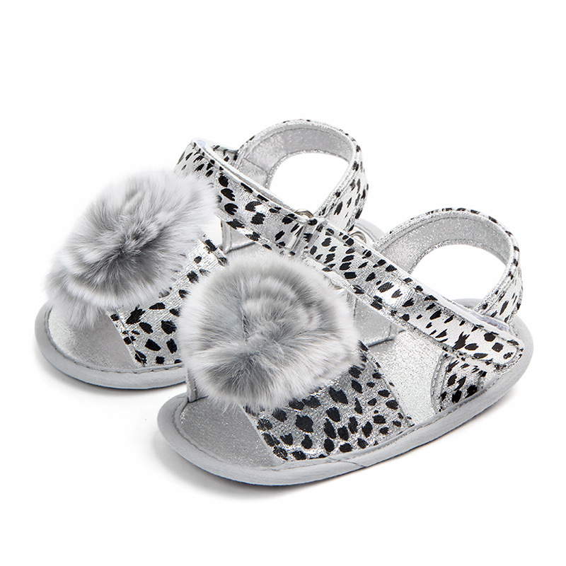 Scarpe da bambino Estate Neonate Sandali morbide Suole con zeppa Scarpe Leopard Sneaker Prewalker