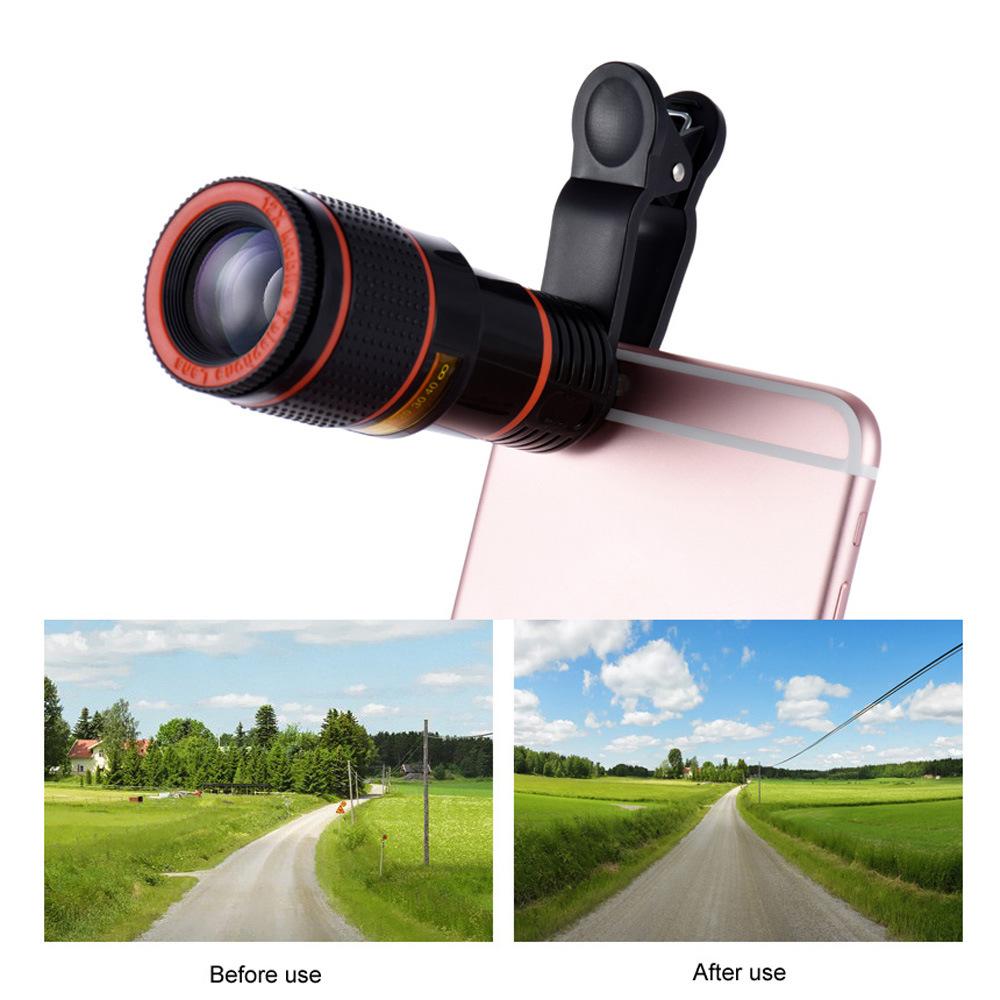 Girlwoman 12x zoom teleobjektiv handy kamera fish eye objektiv weitwinkel makro linsen handy stativ für xiaomi
