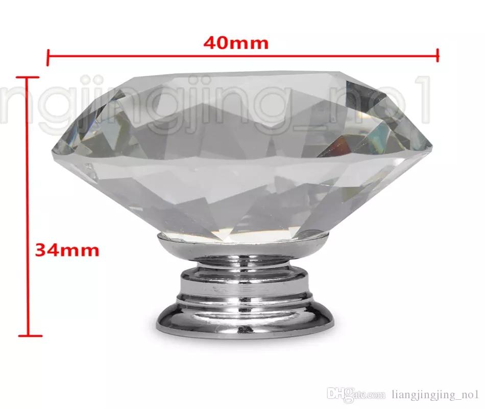 Großhandel 40mm Diamant Kristall Schublade Zieht Knöpfe ...