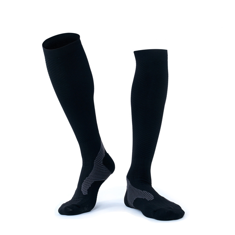 Women Crew Socks Thigh High Knee Smile Running Dog Long Tube Dress Legging Soccer Compression Stocking