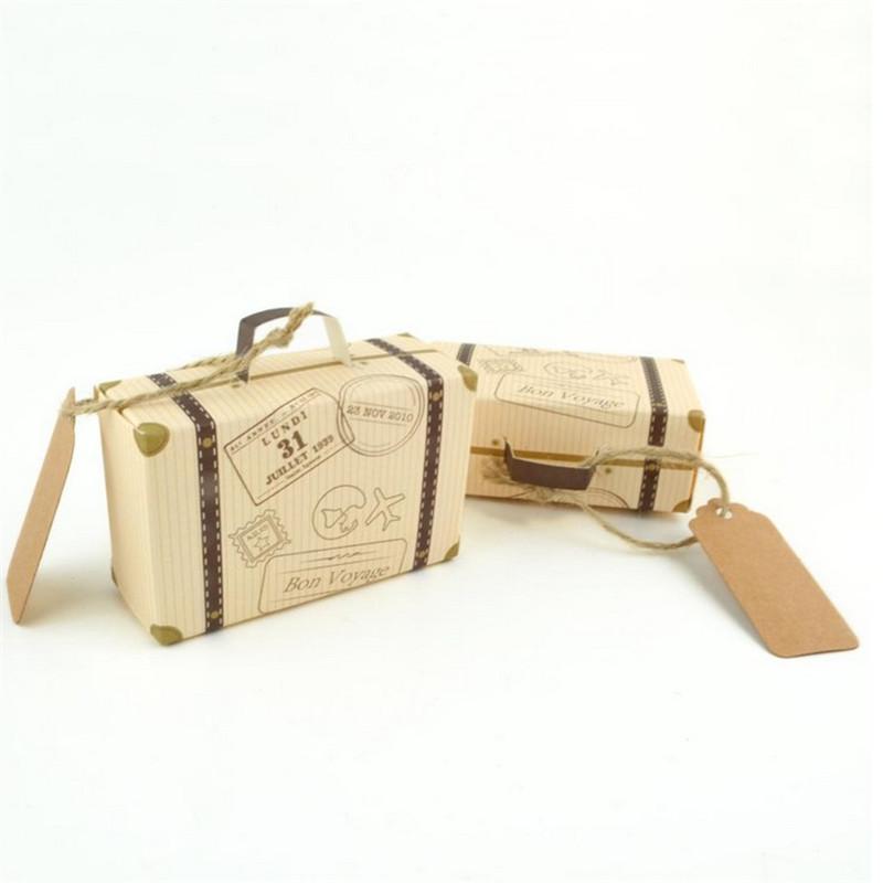 Avrupa Yaratıcı Bagaj Bavul Şekli Şeker Kutuları Düğün Favor Parti Çanta Olay Şenlikli Malzemeleri Ambalaj Kutuları Sevimli Uçak desen Hediye
