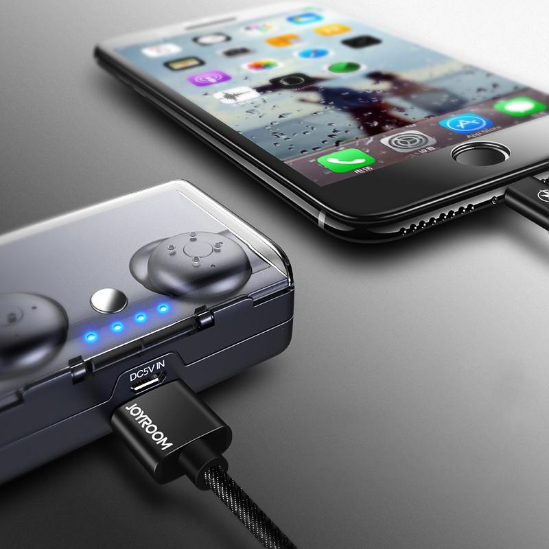 JOYROOM Wireless Bluetooth Earphones E20 Mini Twins Stereo Headset Waterproof Headphone Earbuds TWS With Charging Socket for Smartphone