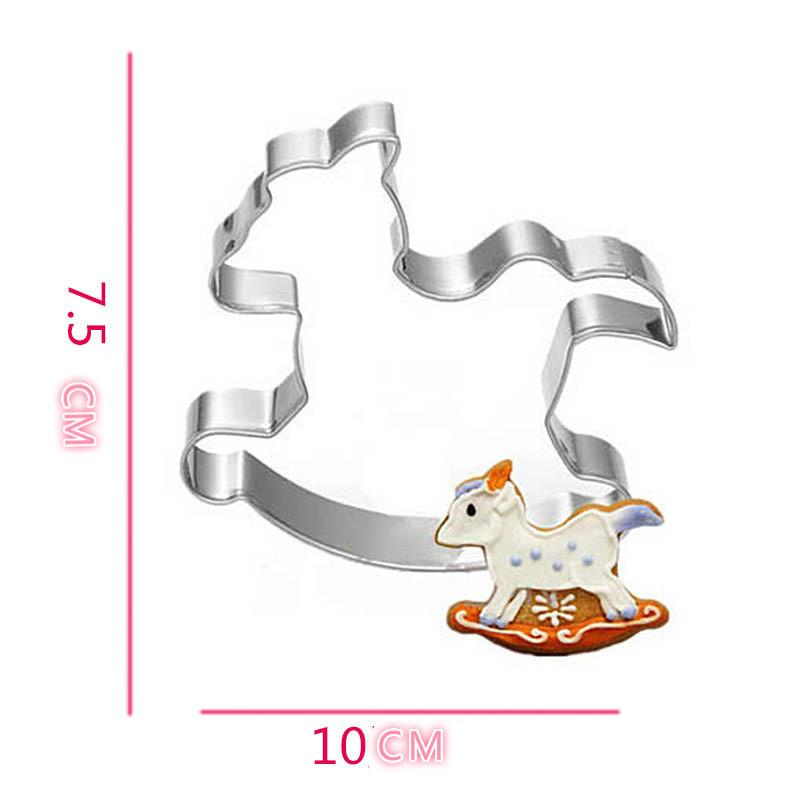 Carousel Horse Shape Cookie Cutter Metal Cake Mold Sugar Paste Cutter Fondant Baking Tools