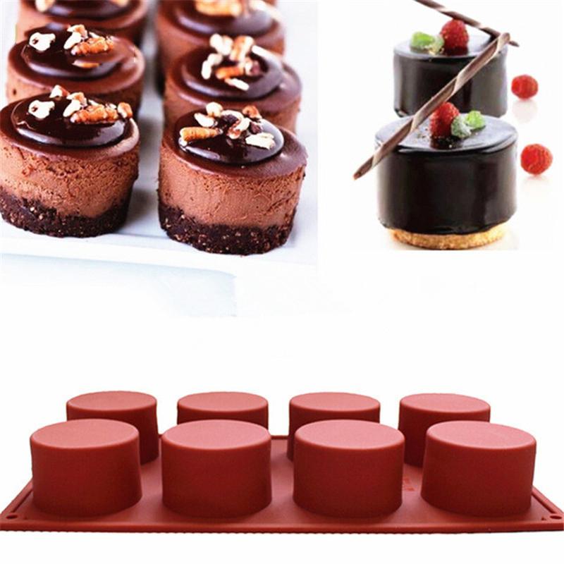 para hornear magdalenas y jab/ón Round Molde de silicona para tartas con forma de coraz/ón