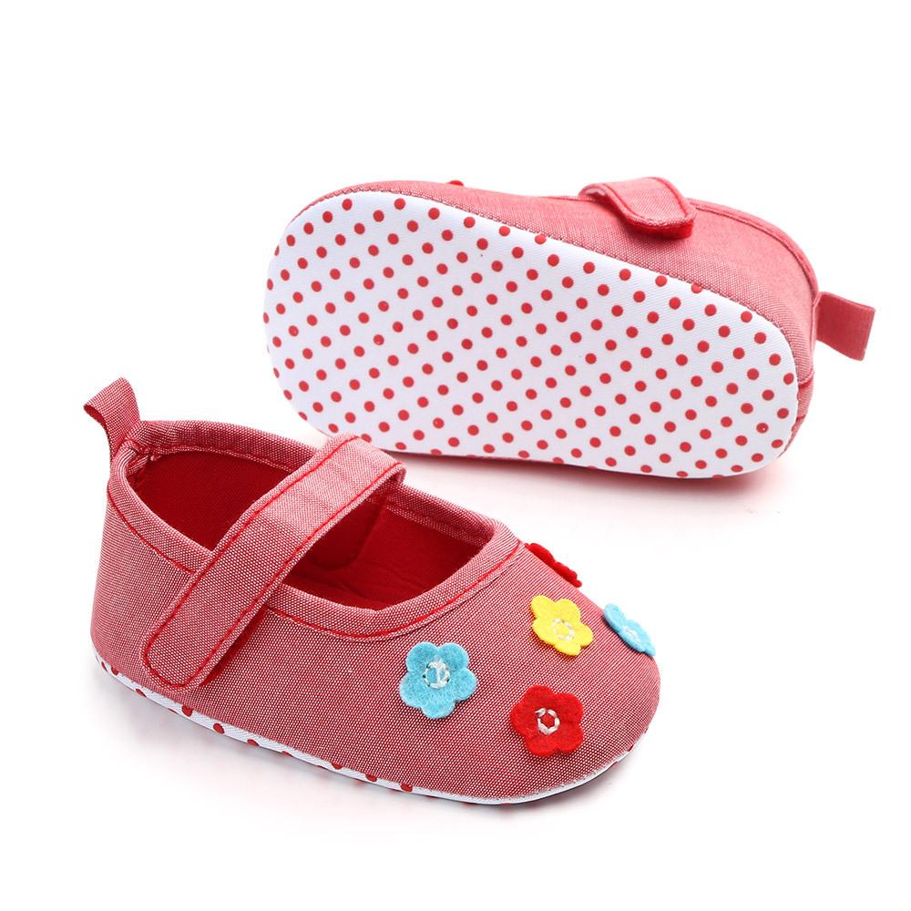 cdb26ae71a 2019 Lovely Flower Baby Newborn Toddler Girl Crib Shoes Pram Soft ...