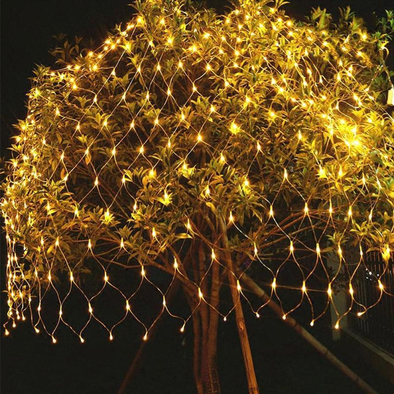 3x2M//6x4M LED Net Fairy Lights Garden Mesh Curtain Christmas Tree Party Decor UK