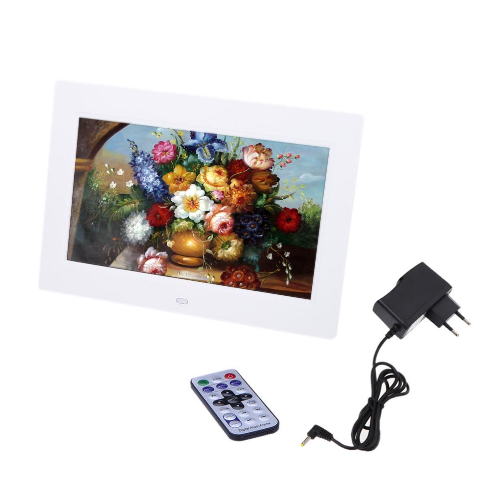 Uzak Masaüstü ile 10 '' HD TFT-LCD 1024 * 600 Dijital Fotoğraf Çerçevesi saat MP3 MP4 Film Oyuncu