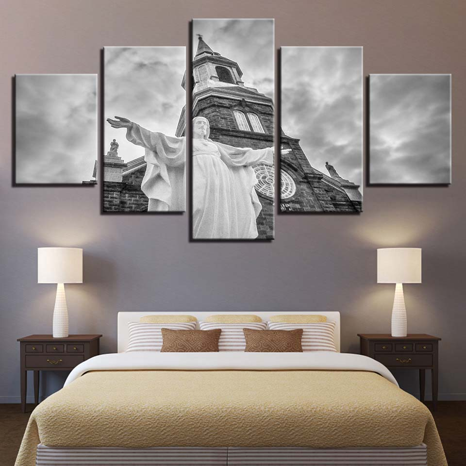 Canvas Painting Wall Art Frame Christ Jesus Church Pictures HD Print Christianity Poster Modular Home Decor Living Room