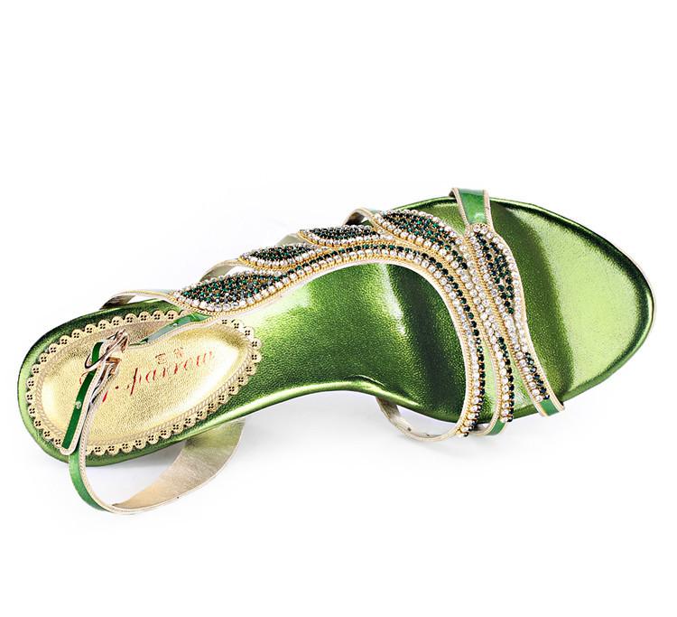 2016 Summer New Luxury Diamond Shoes Women 8cm High Heels Sexy Wedge Sandals Big Size 1113