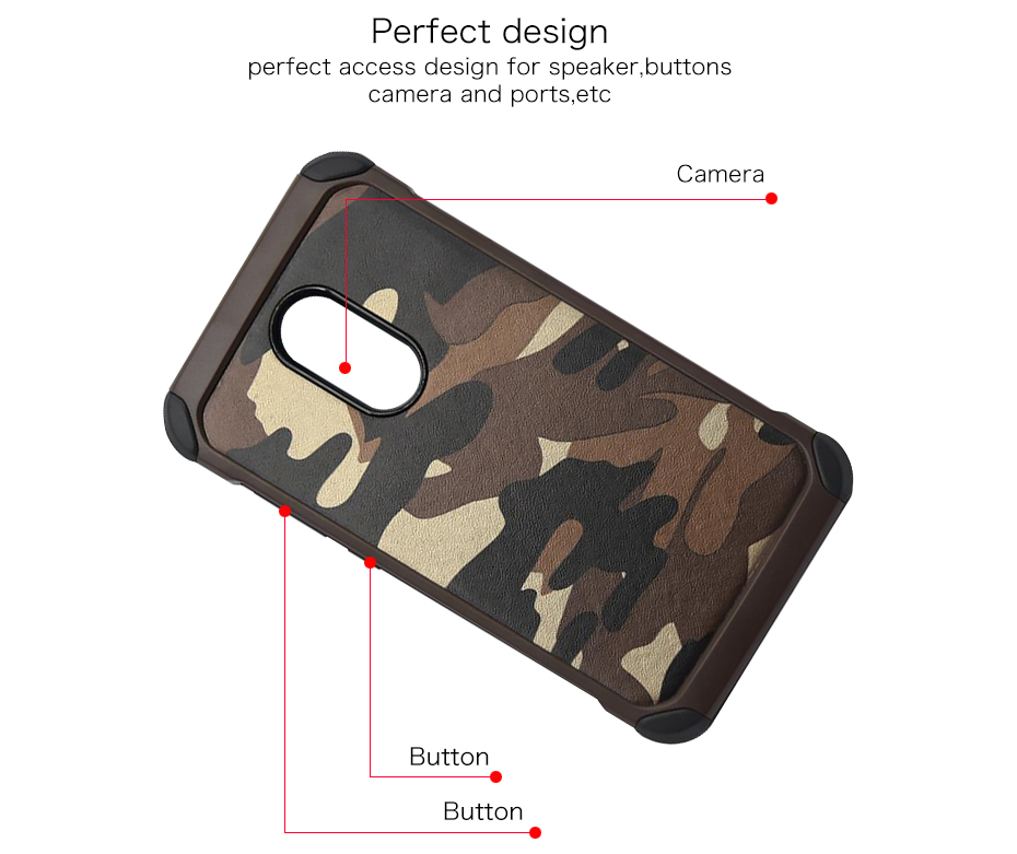 Millet 6 mobile phone shell red rice note43 protective sleeve 5 creative camouflage all inclusive anti fall soft silicone Combo (5)