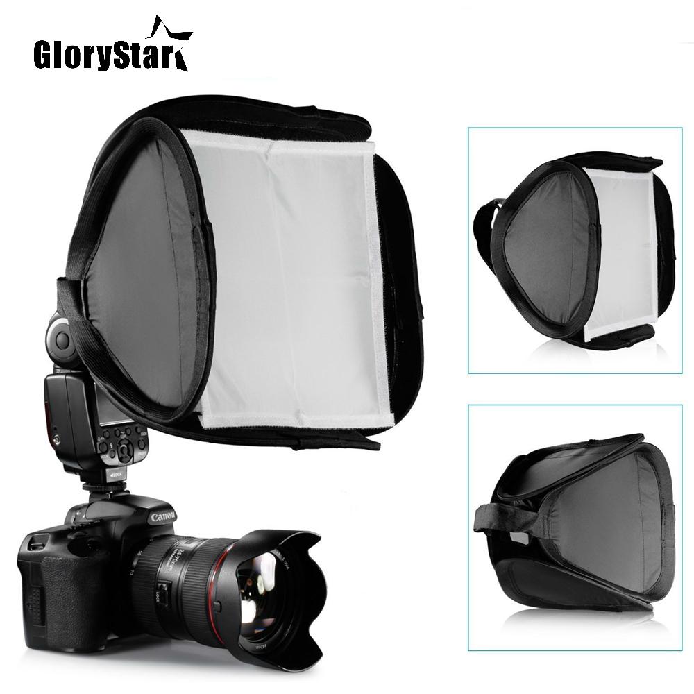 23cmx23cm Universal Portable Flash Softbox Diffuser for 580EX 430EX 600EX Canon Nikon Pentax Camera Studio Light Accessory
