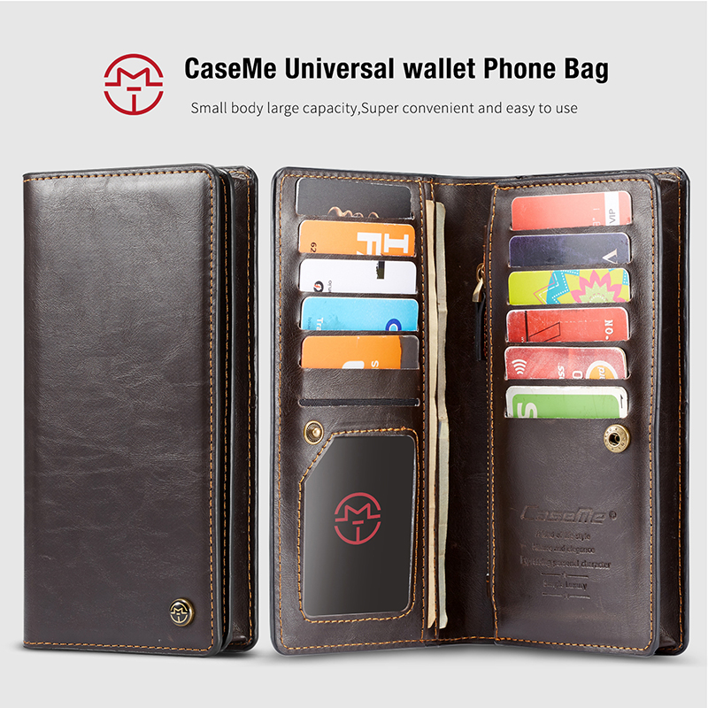 For iPhone 5 5s SE Phone Cases Luxury Leather Stand Flip Card Pocket Cover Back Case For iPhone 6 7 8 Plus X Universal Wallet Phone bag (6)