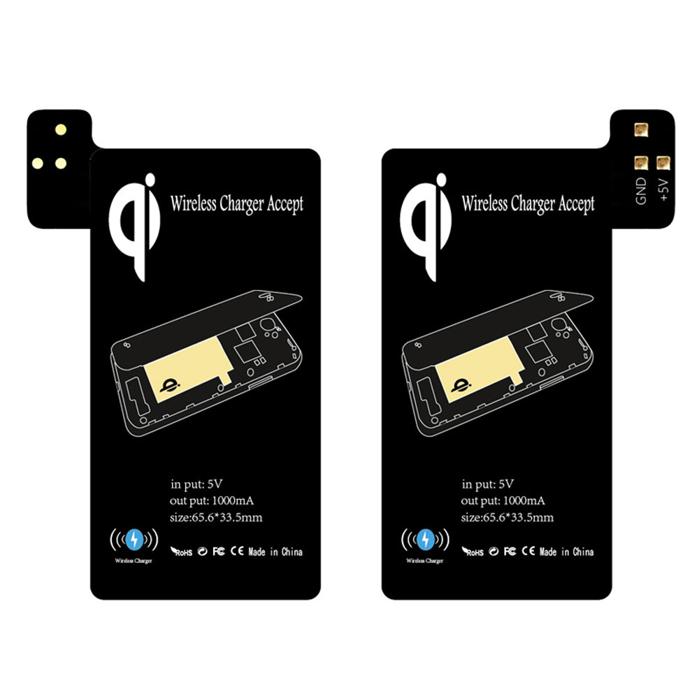Al por mayor Chargers Qi Wireless Charger Pad Pad Receiver Kit para Samsung Galaxy S5 TD1122 envío de la gota