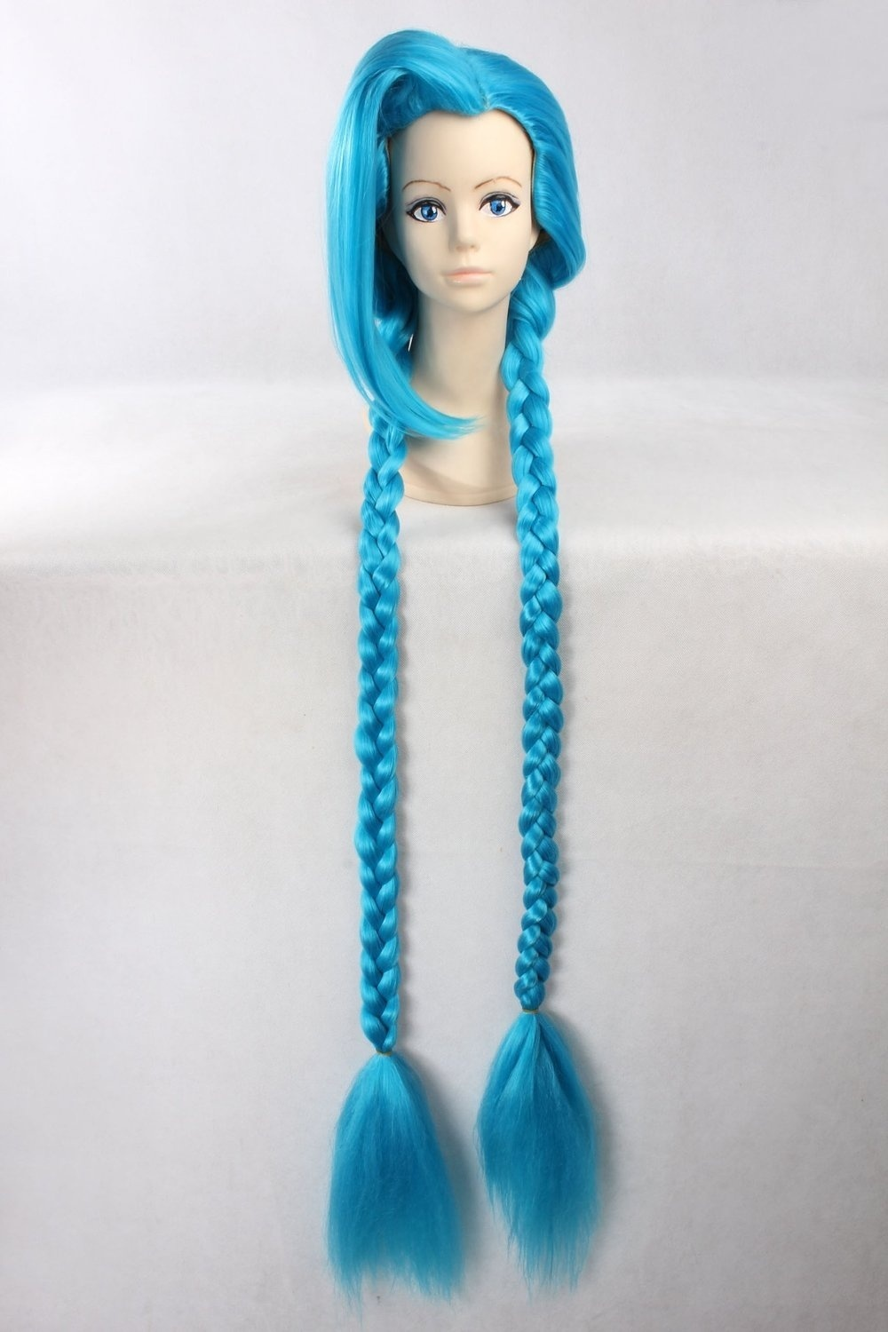 Men's Braids Prestyled Cosplay Party Costume Wigs Long Blue