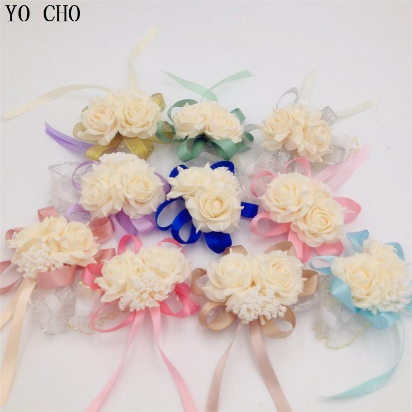 96efb39a93ff9 Großhandel 10 Teile / Los Handgelenk Corsage Brautjungfer Schwestern Hand  Blumen Künstliche Braut Blumen Für Hochzeit Dekoration Von Yiruishen, ...