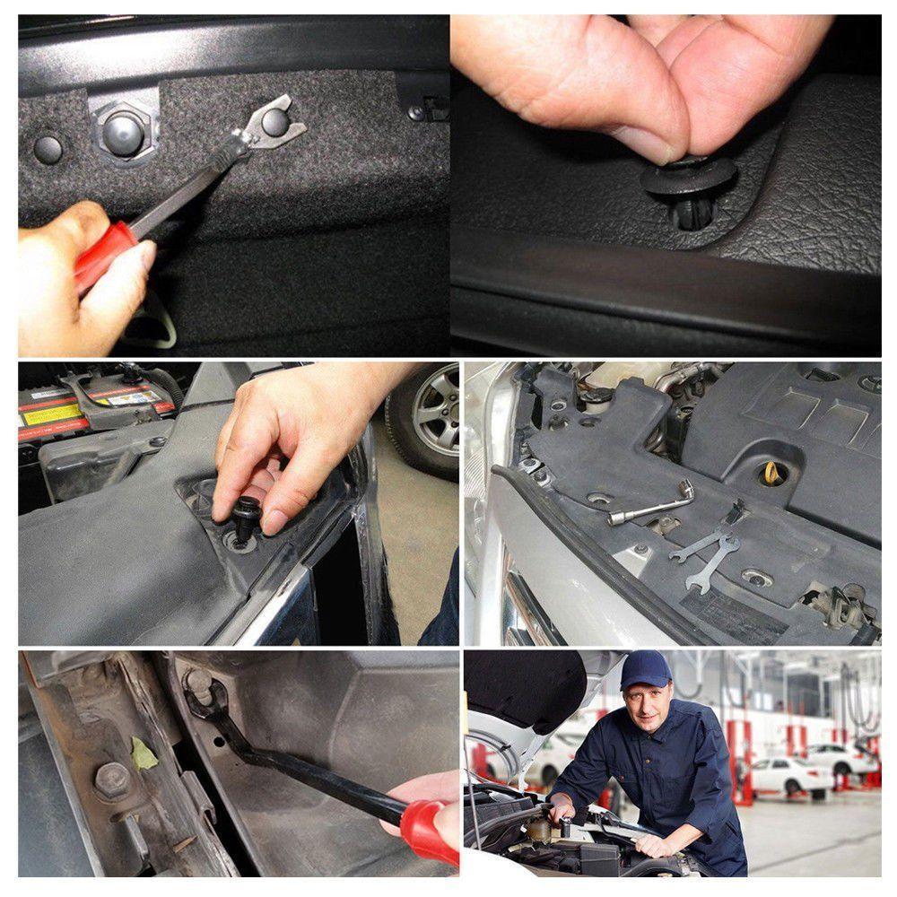 New Plastic Car Body Push Pin Rivet de fixation Moulure clip tournevis pour Honda Toyota BMW