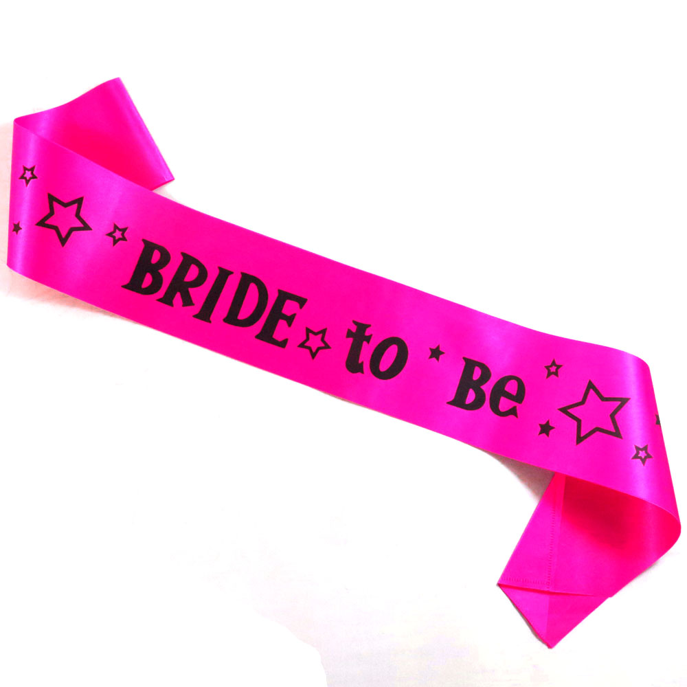 Bachelorette sash black printing Bride to be Prom queen printing bridal shower sex pink ribbon bachelorette hen party