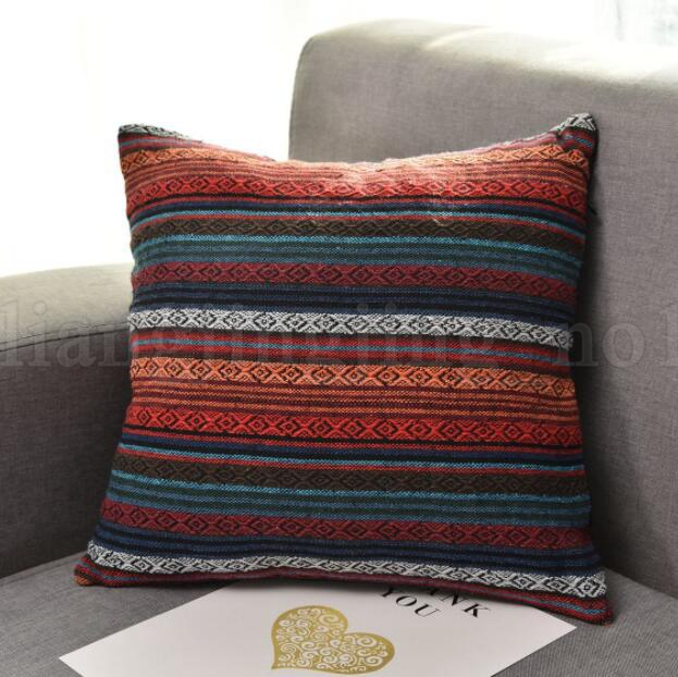 45*45cm Square Pillow Cover Home Soft Bohemia Geometry Zipper Throw Pillow Case Home Office Decoration Pillow Covers KKA5978