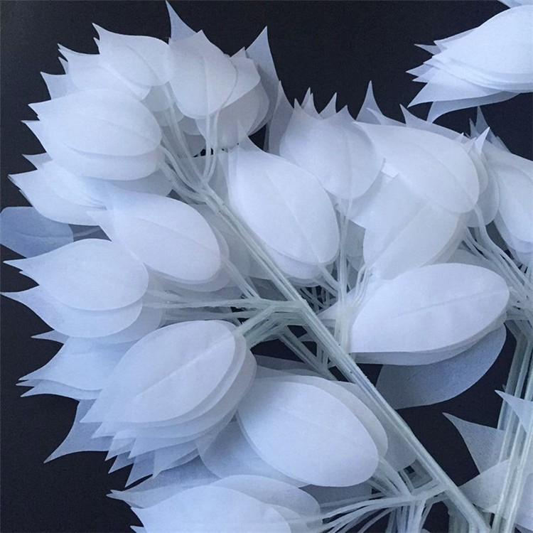 wedding decoration white leaves (3)