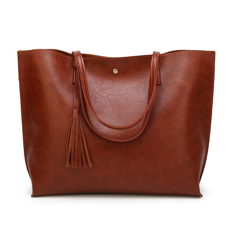 Nevenka Leather Handbag Women Casual Totes Female Shopper Ladies Shopping Bags Large Capacity Bags Vintage Bag for Women 201814