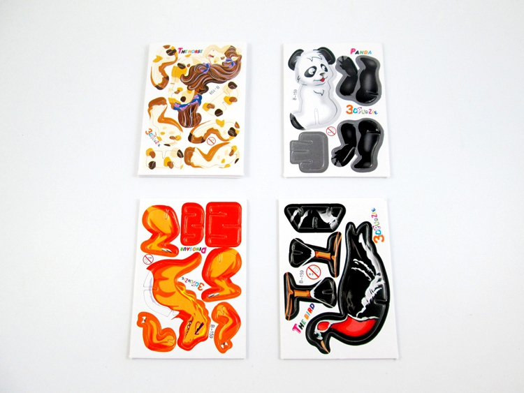 Wholesale Mini Cartoon Animal Model Paper 3D Puzzles Toys for Children Gift Intelligence Toys