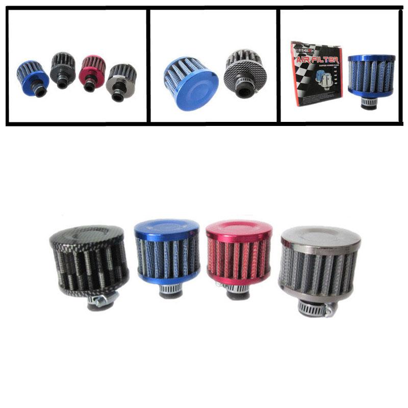 Nuevo Filtro de entrada de aire frío coche 25mm Turbo Ventilación Cárter Respiradero Mini Limpiador