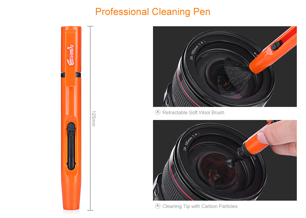 EIRMAI LP - 1 Professional DSLR Camera Lens Cleaning Pen Brush Cleaner Tool with Cloth