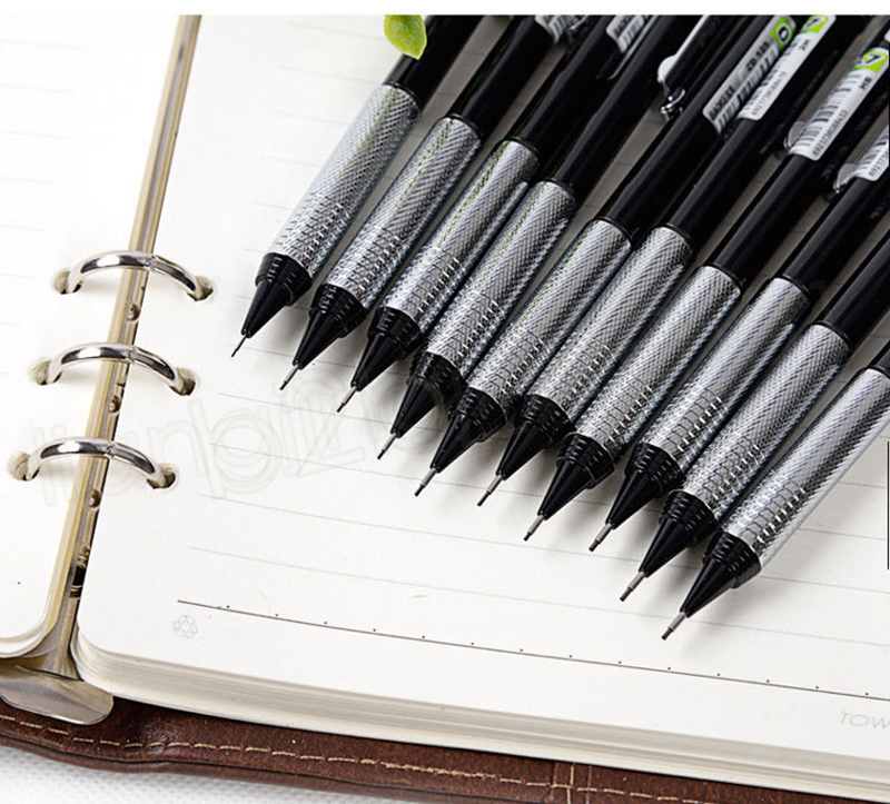 Automatic pencils drawing single pencil 2B HB 2H art pencil metal pencils Comic Pen sketch pen Writing pens Gift GGA1098