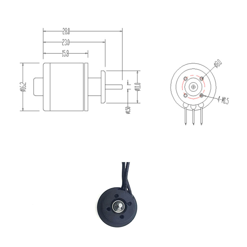 QX-Motor Brand New DIY Drone EDF Parts 30mm 6 Blades Ducted Fan EDF QF1611 6000KV Brushless Motor For RC Airplanes