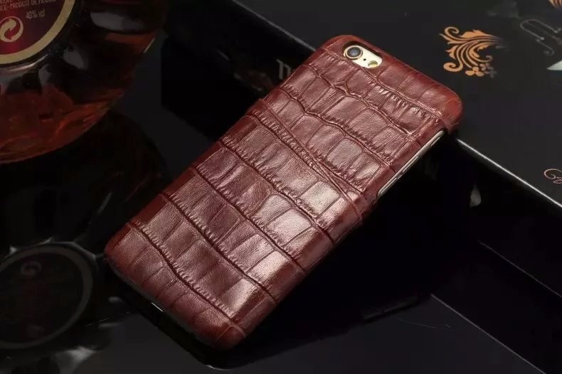 brown color real leather case for iPhone 6 6S Plus cover