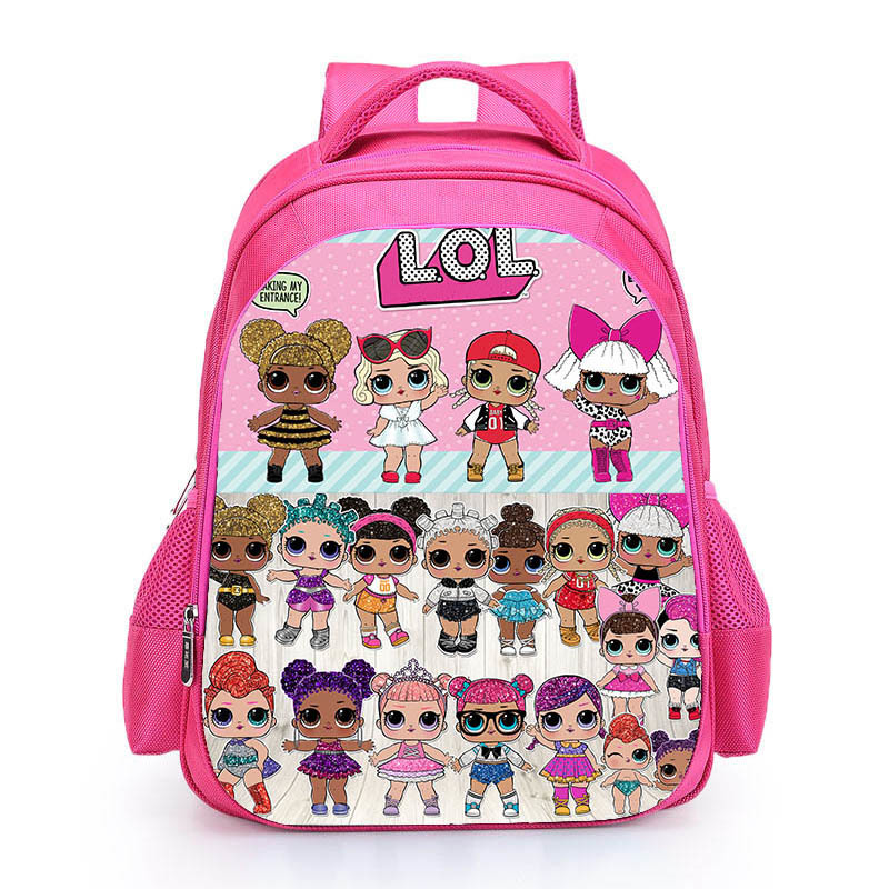 Kids Pink Backpack LOL School Bag for Girls Cute Custom Name Printed Schoolbag personalized Book Knapsack mochila Birthday Gift